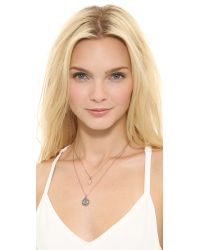 Juicy Couture Metallic Pave Evil Eye Chain Necklace Rose Gold