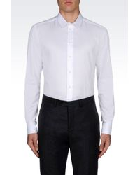 Armani | White Shirt In Stretch Cotton for Men | Lyst