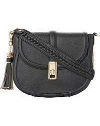 Dune Black Deidre Tassel-detail Saddle Bag