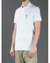 Dolce & Gabbana White Mickey Mouse Polo Shirt for men