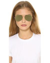 Acne Studios | Metallic Large Aviator Sunglasses - Palladium/silver Mirror | Lyst