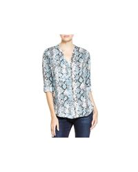 Soft Joie Gray Dane Snakeskin Print Shirt