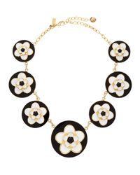 kate spade new york - Mod Floral Necklace Blackwhite - Lyst