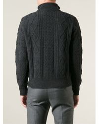 Moncler Gray Padded Panel Cardigan for men