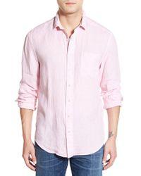Vineyard Vines | Pink Classic Fit Long Sleeve Linen Sport Shirt for Men | Lyst