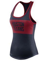 Nike - Blue Women's Houston Texans Dri-fit Performance Tank Top - Lyst