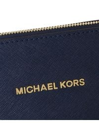 MICHAEL Michael Kors Blue Jet Set Travel Top Zip Tote Bag