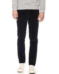 A.P.C. Blue Petit Standard Corduroy Pants for men