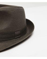 Zara | Green Basic Hat for Men | Lyst