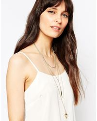 ASOS - Metallic Mixed Chain Multirow Necklace - Lyst