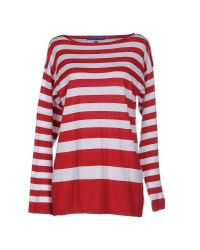 Blue Les Copains - Red Jumper - Lyst