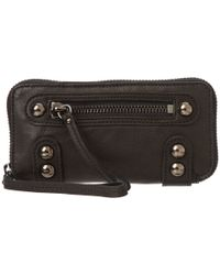 Linea Pelle Black Dylan Zip Wallet