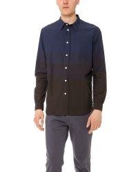Paul Smith Blue Standard Fit Color Block Shirt for men