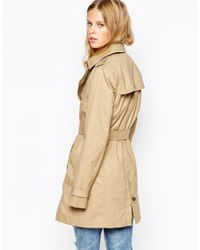 Pepe Jeans - Natural Nure Belted Trench Coat - Lyst