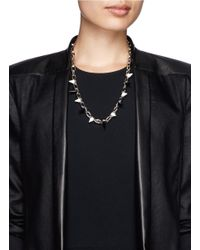 Joomi Lim | Black 'white Out' Spike Chain Necklace | Lyst