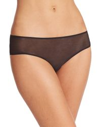Hanro | Black High-cut Tulle Brief | Lyst