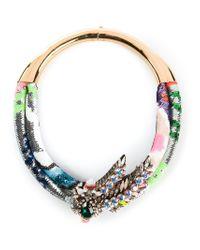 Shourouk - Multicolor Double 'aigrette' Necklace - Lyst