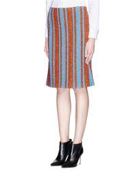 Thakoon - Multicolor Stripe Seam Bouclé Knit Pencil Skirt - Lyst