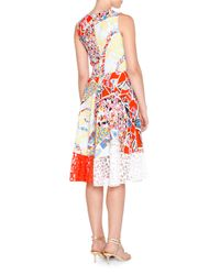 Emilio Pucci - Red Geometric Cady Laser-cut Dress - Lyst