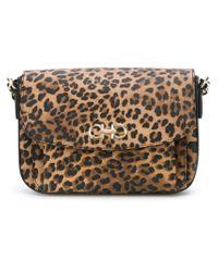 Ferragamo - Brown 'sandrine' Shoulder Bag - Lyst