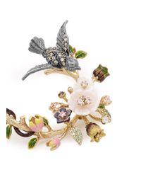 Anabela Chan - Multicolor 'Swallow Garland' 18K Gold Diamond Pavé Drop Earrings - Lyst