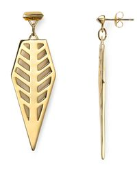 Rebecca Minkoff | Metallic Open Blade Drop Earrings | Lyst