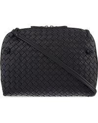 Bottega Veneta | Black Ciel Intrecciato Leather Small Cross-Body Bag | Lyst