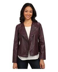 Calvin Klein Jeans | Purple Pu & Perf Jacket | Lyst