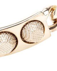 Balenciaga | Metallic Classic 3 Studs Bracelet | Lyst