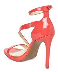 Jessica Simpson Pink Grapefruit Patent Rayli Sandals