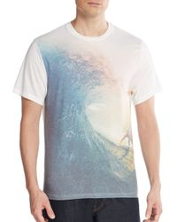 Threads For Thought White Wave Graphic Tee for men