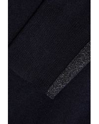 JOSEPH Blue Metallic-trimmed Knitted Sweater