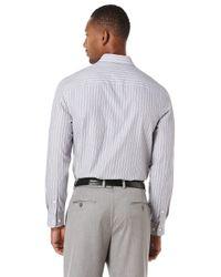 Perry Ellis | Blue End-on-end Stripe Sportshirt for Men | Lyst