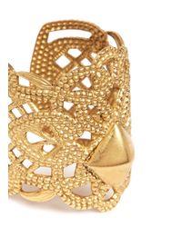 Ela Stone - Metallic 'bucci' Lace Filigree Ring - Lyst