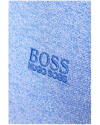 BOSS Green | Blue Slim-fit Textured Polo Shirt 'pedro' for Men | Lyst