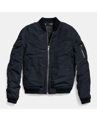 COACH | Blue Waxed Nylon Aviator Jacket for Men | Lyst