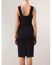 Veronica Beard - Black V-Neck Fitted Dress - Lyst