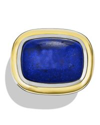 David Yurman - Blue Waverly Ring With Lapis Lazuli & Gold - Lyst