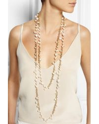 Rosantica | White Chimera Golddipped Freshwater Pearl Necklace | Lyst