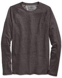 American Rag | Brown Interlock Raglan T-shirt for Men | Lyst
