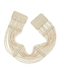 Brunello Cucinelli - Natural Riverstone Multi-Strand Necklace - Lyst