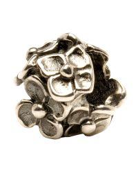 Trollbeads | Metallic 'hydrangea' Silver Bead | Lyst