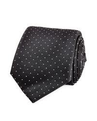 Jil Sander - Black Printed Silk Tie - Dots for Men - Lyst