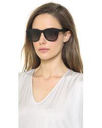 Lanvin Thick Frame Sunglasses Shiny Blackbrown