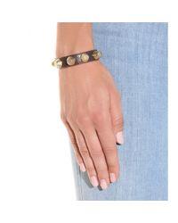 Balenciaga Metallic Giant Stud Leather Bracelet