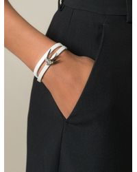 McQ | White Swallow Double Wrap Bracelet | Lyst