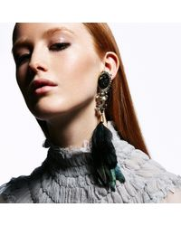 Alexis Bittar | Black Raven Portrait Cameo Feather Clip Earring You Might Also Like | Lyst