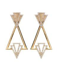 Lulu Frost Metallic Portico Earrings