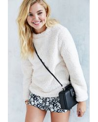 Silence + Noise White Cozy Sherpa Top