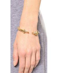 Vita Fede - Metallic Titan Caged Bracelet Goldclear - Lyst